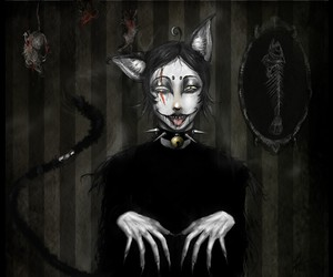 cat, claws, and creepy image