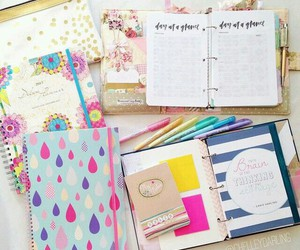 agenda, journal, and school image