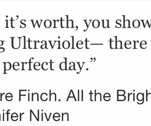 book, finch, and quote image