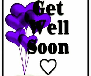 balloons, get well soon, and heart balloons image