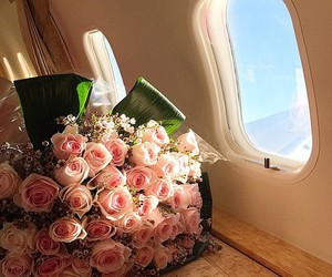 airplane, love, and luxury image
