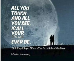 life, Pink Floyd, and moon image