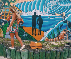 tropical, girl, and ocean image