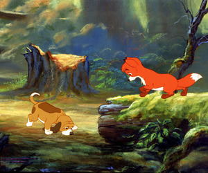 copper, friend, and the fox and the hound image