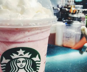 coffee, pink, and shopping image