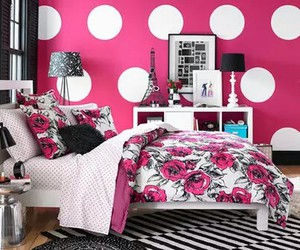 pink and bedroom image