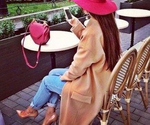 luxury, outfit, and pink hat image