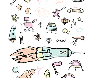 doodle, sky, and space image