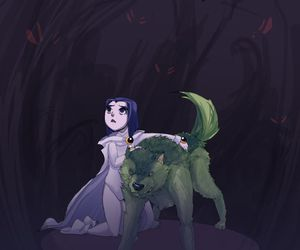 lol, raven, and beast boy image