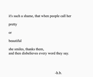 beautiful, pretty, and quote image