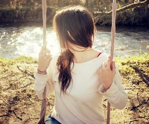 girl, photography, and swing image