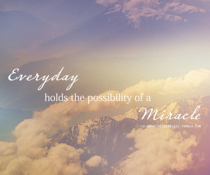 miracle, quote, and clouds image