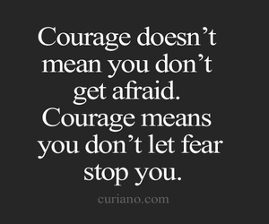 courage, quotes, and fear image