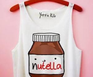 nutella, shirt, and chocolate image