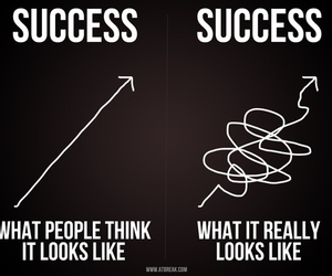 success, quotes, and funny image