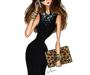 fashion, draw, and dress image