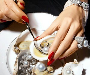 pearls, luxury, and nails image