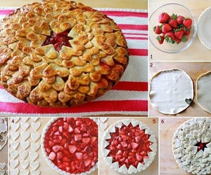 strawberry, food, and pie image