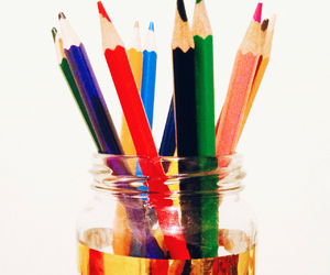 art, colorful, and pencils image