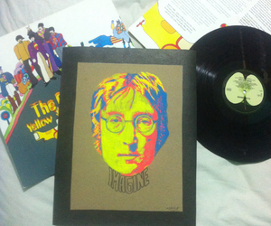 art, beatle, and john lennon image