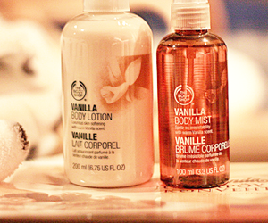 vanilla, lotion, and body shop image