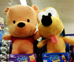 winnie the pooh, pluto, and cute image