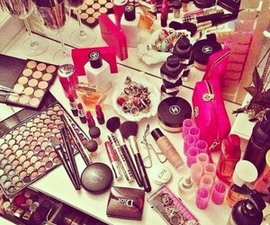 make up, makeup, and chanel image