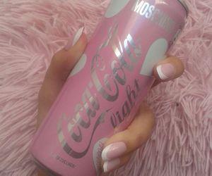 pink, coca cola, and nails image