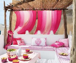 pink, summer, and home image