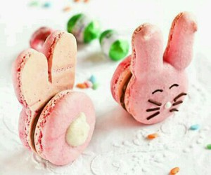 easter, bunny, and macaroons image