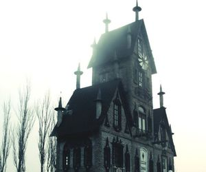 forest, goth, and victorian house image