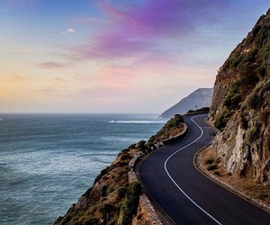 sea, sky, and road image