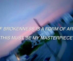 quotes, broken, and art image