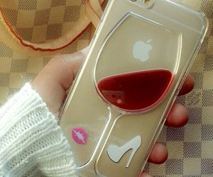 wine, iphone, and case image