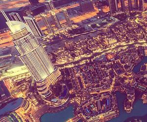 city lights, Dubai, and landscape image