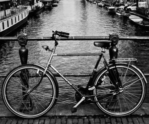 white, bike, and black image