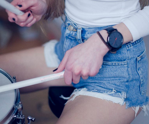 drums, sexy, and woman image