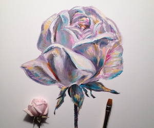 art, blonde, and flower image