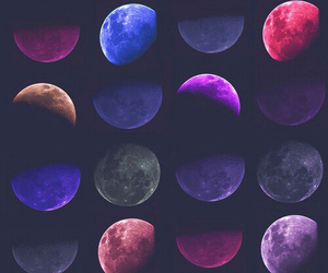 moon, wallpaper, and colors image