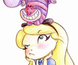 alice, alice in wonderland, and drawing image