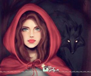 girly_m, red, and art image