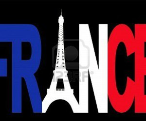 eiffel tower, flag, and france image