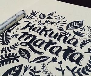 art, hakuna matata, and drawing image