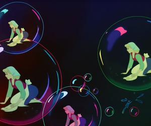 cinderella, bubbles, and disney image