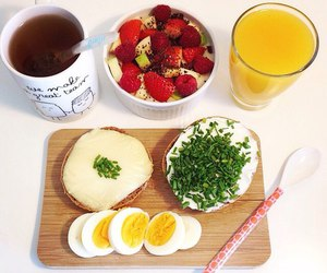breakfast, food, and style image