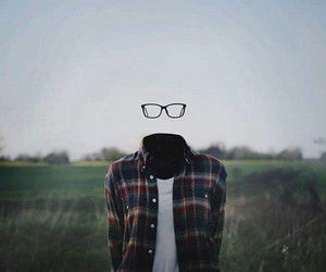 glasses and invisible image