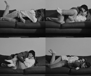 couples, love, and cuddling image