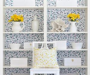 background, shelf, and decoration image