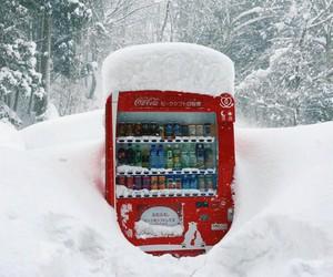 coca cola, japan, and snow image