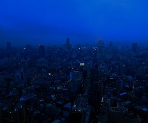 city, blue, and grunge image